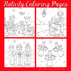 christmas nativity coloring fb