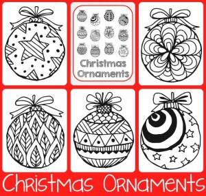 Christmas Ornaments Coloring Printables