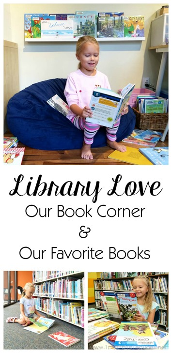 Library Book Reading Corner and Favorite Library Books for 1st Graders
