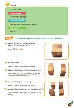 Spielgaben Math Ch 4 Fractions Play 19 Cut the Cake