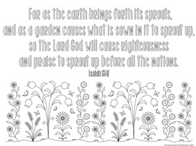 spring bible verse coloring 1 - Coloring Pages Bible