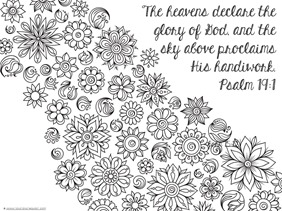 Spring Bible Verse Coloring Pages 1111