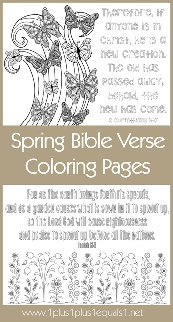 Spring Bible Verse Coloring Pages