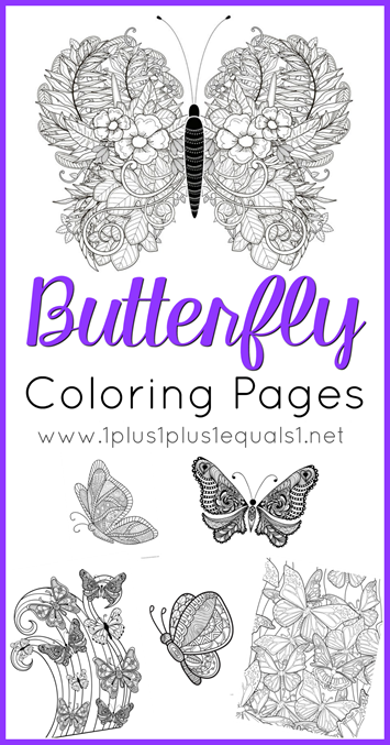 Butterfly Coloring Pages for Adults or Kids