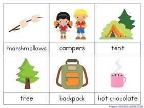 Camping Theme Preschool Printables 13