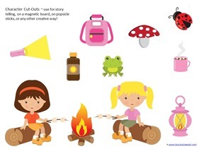 Camping Theme Preschool Printables  (25)