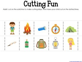 Camping Theme Preschool Printables  (5)