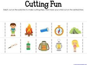 Camping Theme Preschool Printables  (5)