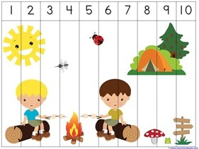 Camping Theme Preschool Printables 7