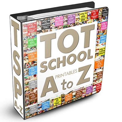 Tot School Printables A-Z Bundle Download
