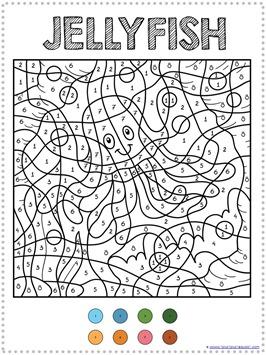 color by number ocean animals coloring pages 1 1 1 1. Black Bedroom Furniture Sets. Home Design Ideas