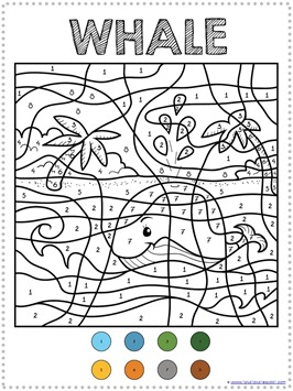 Color By Number Ocean Animals (3)