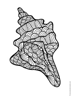coloring pages of sea shell - photo#18