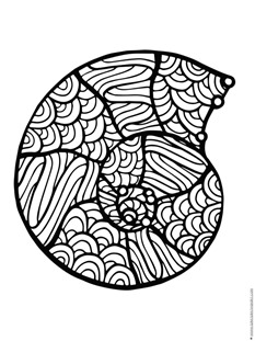 coloring pages of sea shell - photo#15