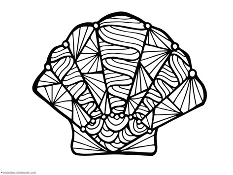 coloring pages of sea shell - photo#1