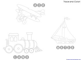Transportation Preschool Printables (1)