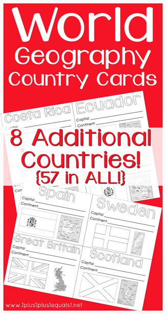 World Geography Country Printables 8 Additional Countries