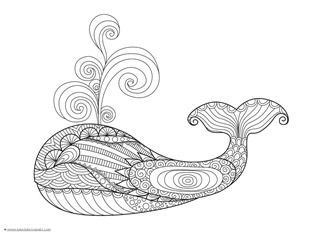 dolphin and whale coloring pages 10