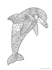Dolphin And Whale Coloring Pages 3