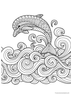 Dolphins and Whales Coloring Pages - 9 9 9=9
