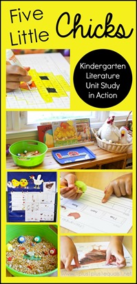 Five Little Chicks Kindergarten Literature Unit in Action
