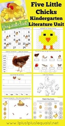 Five Little Chicks Kindergarten Literature Unit