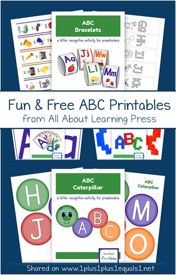 Fun and Free ABC Printables from All About Learning Press