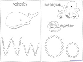 Ocean Animals Q-Tip Painting Printables (5)