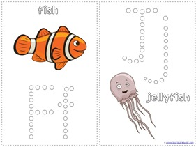 Ocean Animals Q-Tip Painting Printables (7)