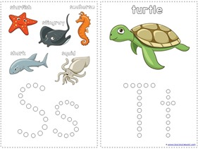 Ocean Animals Q-Tip Painting Printables (8)