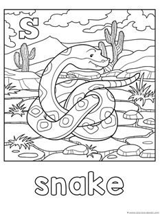 S is for Snake Coloring
