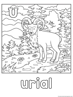 Animal Alphabet Coloring Printables S T U V W X 1