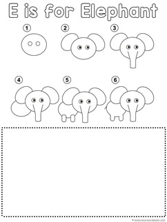 Elephant Drawing Tutorial