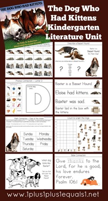 The Dog Who Had Kittens Kindergarten Literature Unit Printables