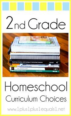 2nd Grade Homeschool Curriculum Choices