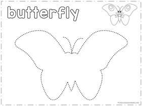 Finish the Picture Trace and Draw a Butterfly