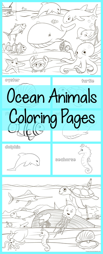 ocean life coloring pages preschool numbers - photo #40