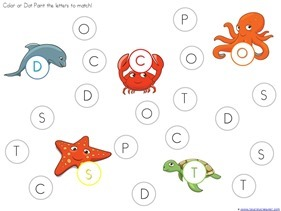 Ocean Animals Dot Fun Printables (18)
