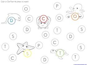 Ocean Animals Dot Fun Printables (1)