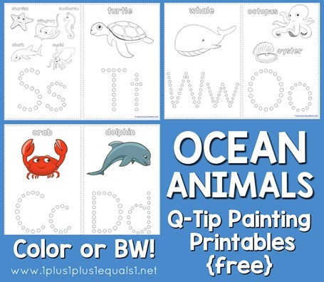 Ocean-Animals-Q-Tip-Painting-4