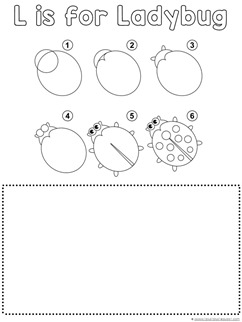 Ladybug Drawing Tutorial