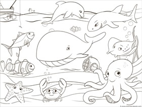 Ocean Animals Coloring