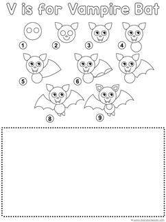 Vampire Bat Drawing Tutorial