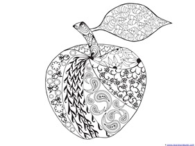 Apple Coloring 3 4
