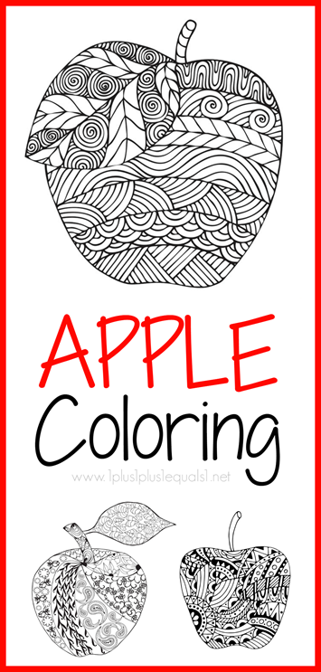 Apple Coloring Pages For Adults Or Kids