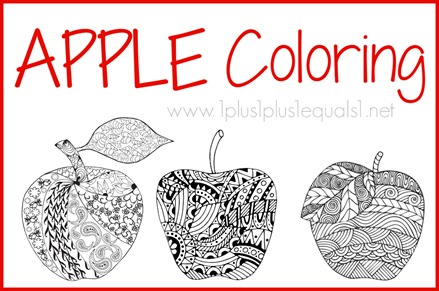 Download Your Free Apple Coloring Pages Here Scroll Down Until You See This Graphic And Click To The Set