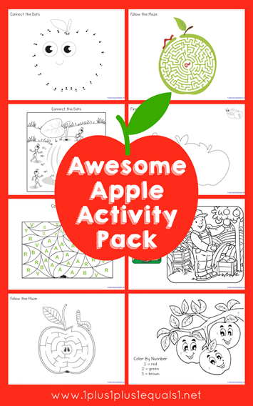 Apple Theme Activity Pack Free Printables