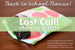 Back to School Essential Oil Gift Last Call