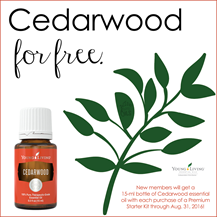 Cedarwood Free for new members in August 2016