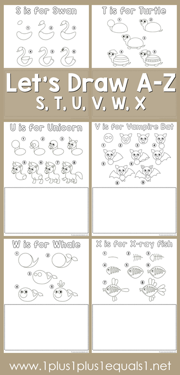 Learn To Draw A Swan Turtle Unicorn Vampire Bat Whale And X Ray